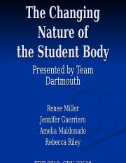 The_Changing_Nature_of_the_Student_Body_Dartmouth.ppt