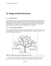 13 Design of Wood Structures