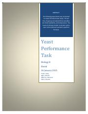 Yeast Performance Technical Report