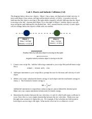 Lab 5 Elastic and Inelastic Collisions