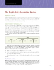 Appendix C; The Double-Entry Accounting System