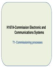 H167A-Prest-1 Commissioning procedures and processes