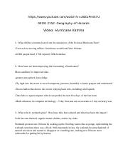 Natural Hazards Hurricane Katrina Video Questions.docx