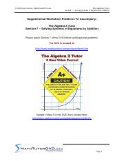 07. Algebra 2 Tutor Solving Systems of Equations by Addition.pdf