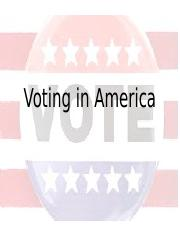 Voting in America (1)