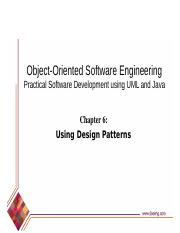 Designpatterns Object Oriented Software Engineering Practical Software Development Using Uml And Java Chapter 6 Using Design Patterns 6 1 Introduction Course Hero