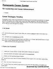 Career Strategies Timeline