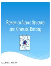 Review on Atomic Structure and Chemical Bonding