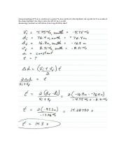 Constant Acceleration Problem with Answer