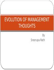 Systems Thinking - Week 2 - Management Thought Evolution.pptx