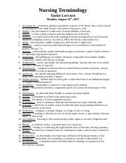Nursing Terminology .docx
