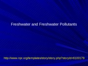 21 Water Quality Parameters