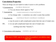 Convolution Properties Notes