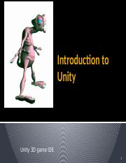 unity introduction