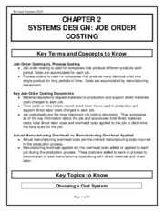 job costing notes download