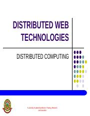 DISTRIBUTED WEB TECHNOLOGIES (2)