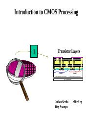 6_Intro to Cmos Processing