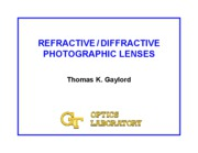 Refractive and Diffractive Photo Lenses 2
