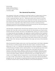 essay on industrialization revolution I'm writing a long essay about whether or not the industrial revolution brought more good than evil what's a good thesis statement if i'm.
