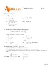 Review of Integral Calculus_SP15