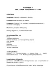 CHAPTER 7 - Nonvisual Sensory Systems - Fall 2014