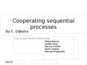 Presentation JP9 - Cooperating sequential processes