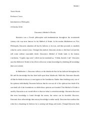 Method of Doubt Essay