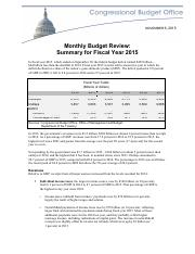 Budget Review FY 2015