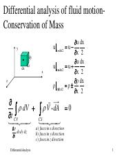 Lecture 9 Conservation and Energy and Differential_analysis