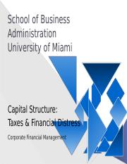 1 Capital Structure Taxes Financial Distress