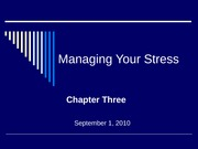Stress- Chapter 3