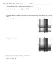 PRE CALCULUS PART 2 : quarter exam - James Madison High School -