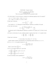 Complex Analysis Problem Papers 1, 2 and 5
