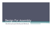 12. Design for Assembly
