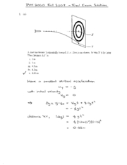 Final Exam Solution Fall 2007 on Physics 1 Honors with Mechanics