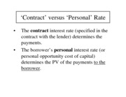 contract vs personal rates