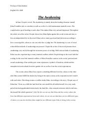 THE AWAKENING. ENG 201.docx