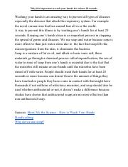Why it is important to wash your hands for at least 20 seconds Short Essay.pdf
