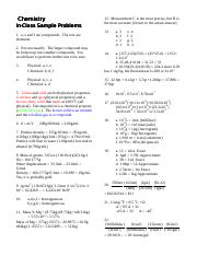 TEST # 1 ANSWERS