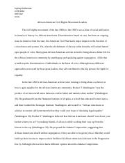 African American Civil Rights Leaders essay