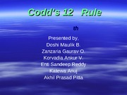 LatestCodd's 12th Rule