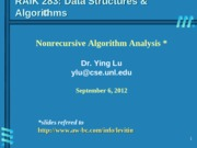 Lecture topic-AnalysisNonrecursiveAlgorithm