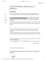 004. Critical Thinking - Importance of Research.pdf