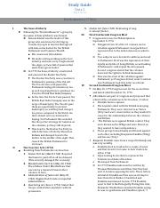 Study Guide Quiz 5