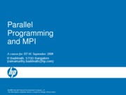 Parallel Programming and MPI