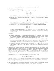 Homework 2 Solution on Vector Calculus
