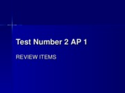 Test Number 2 AP 1
