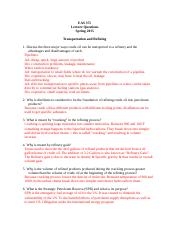 Lecture questions  08  -  Transportation and Refining Spring 2015 (1).doc