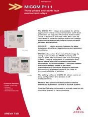 p111 leaflet p r ot e c t i o n micom p111 three phase and earth rh coursehero com Protective Relay Test Leads schneider micom p111 relay manual