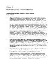 Chapter 3 Why Everybody Trades: Comparative Advantage Suggested answers to questions and problems